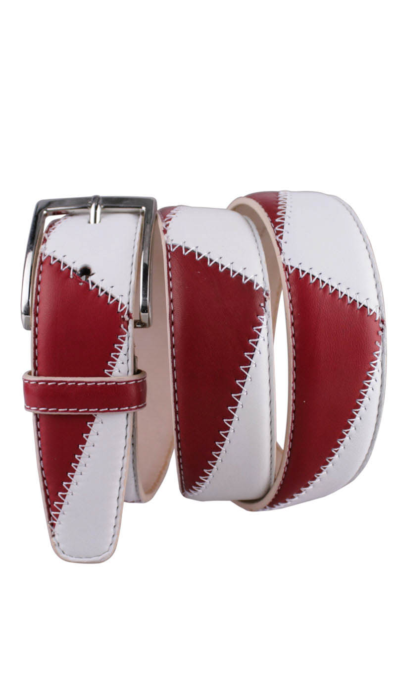 Belt 3,5 CM BICOLOR Gucci Red/White