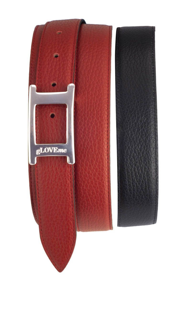 Belt DOUBLE SIDED Gucci Red/Black