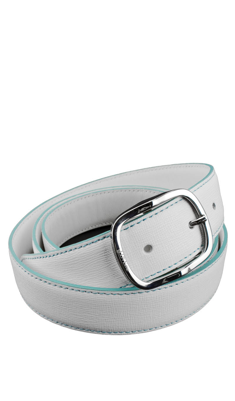 Belt 3 CM SAFFY White/Turquoise