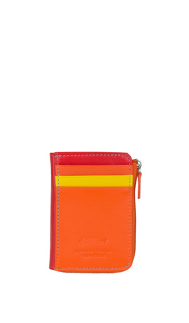 GINESTRA Mini Wallet Credit Card Slots Arancione