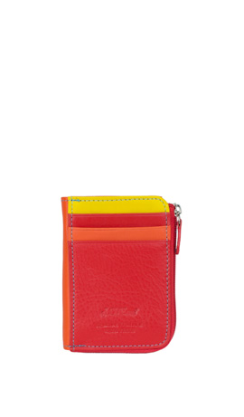 GINESTRA Mini Wallet Credit Card Slots Rosso