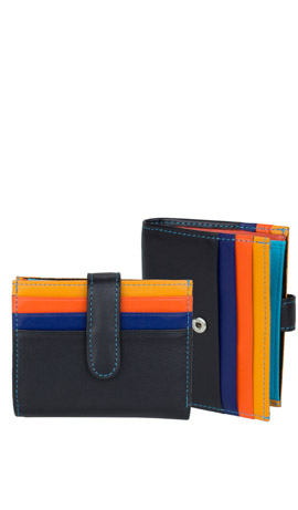 MUGHETTO Wallet Lady Mini Schwarz