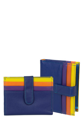 MUGHETTO Wallet Lady Mini Royalblau